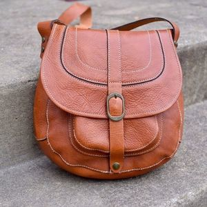 Patricia Nash Barcellona Tan Leather Saddle Bag